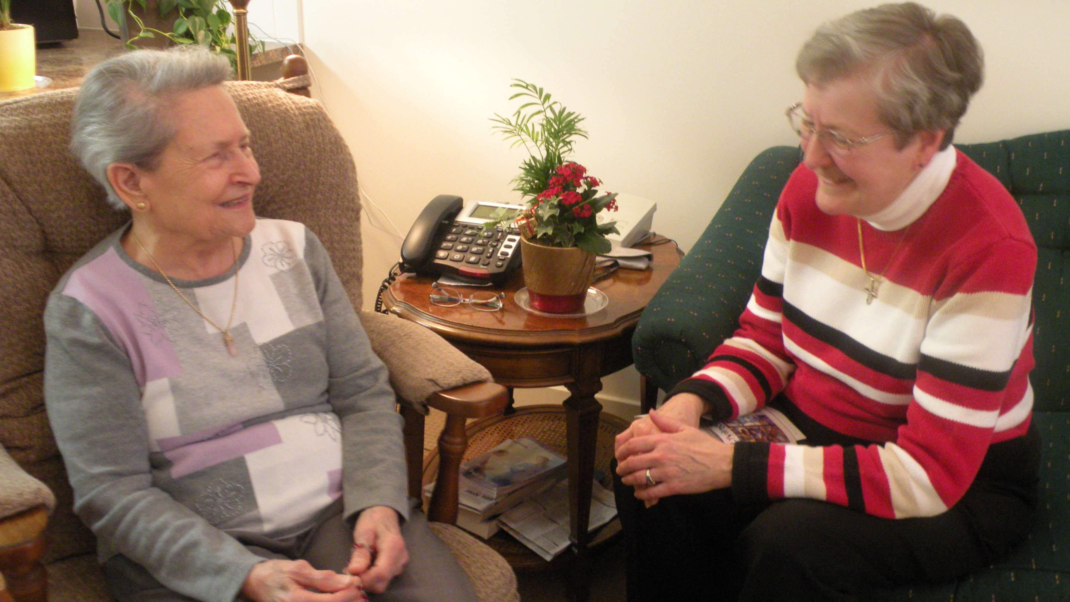 Mary and Sister Ann Hehl, OP