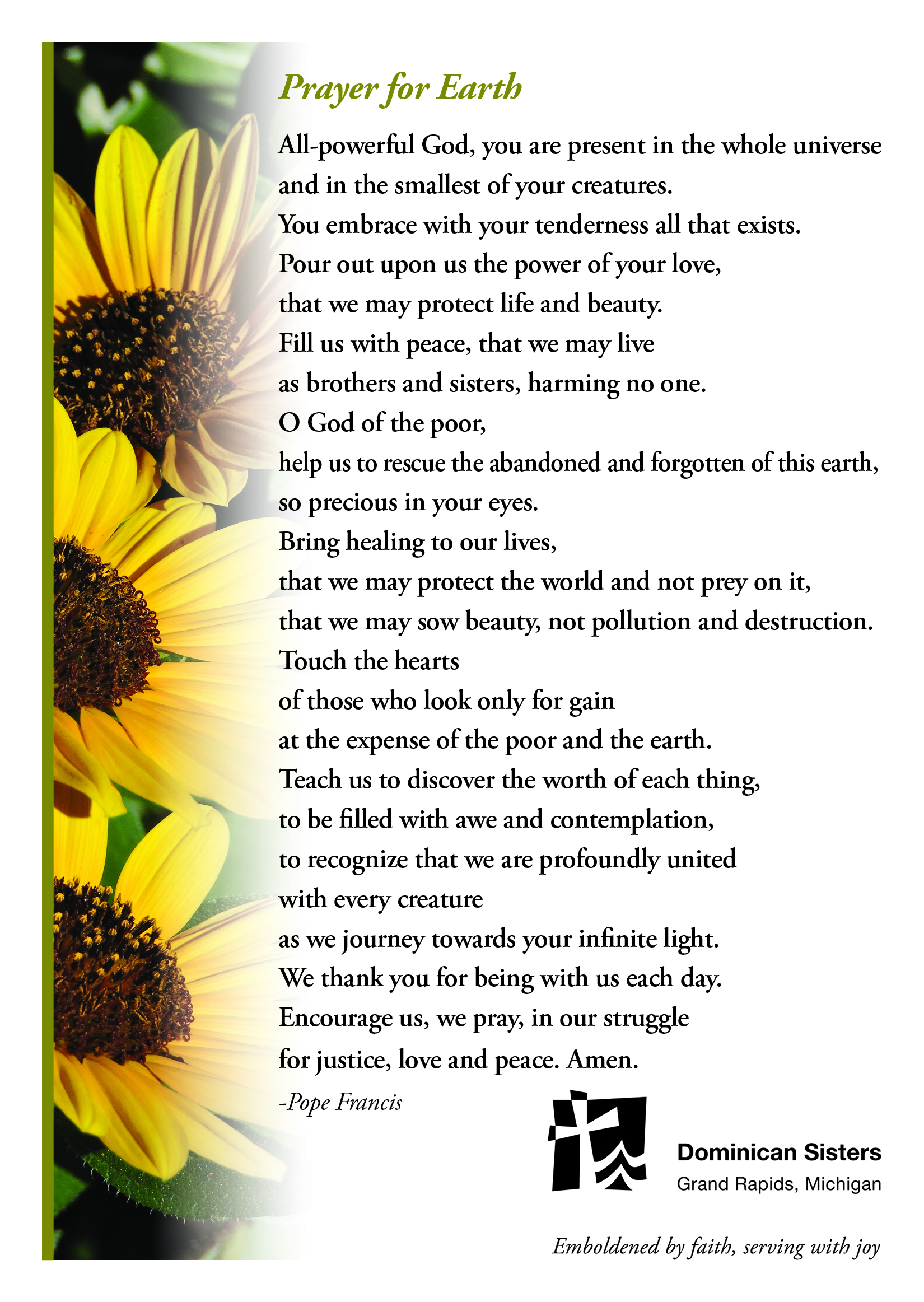 Prayer for Earth Reflection
