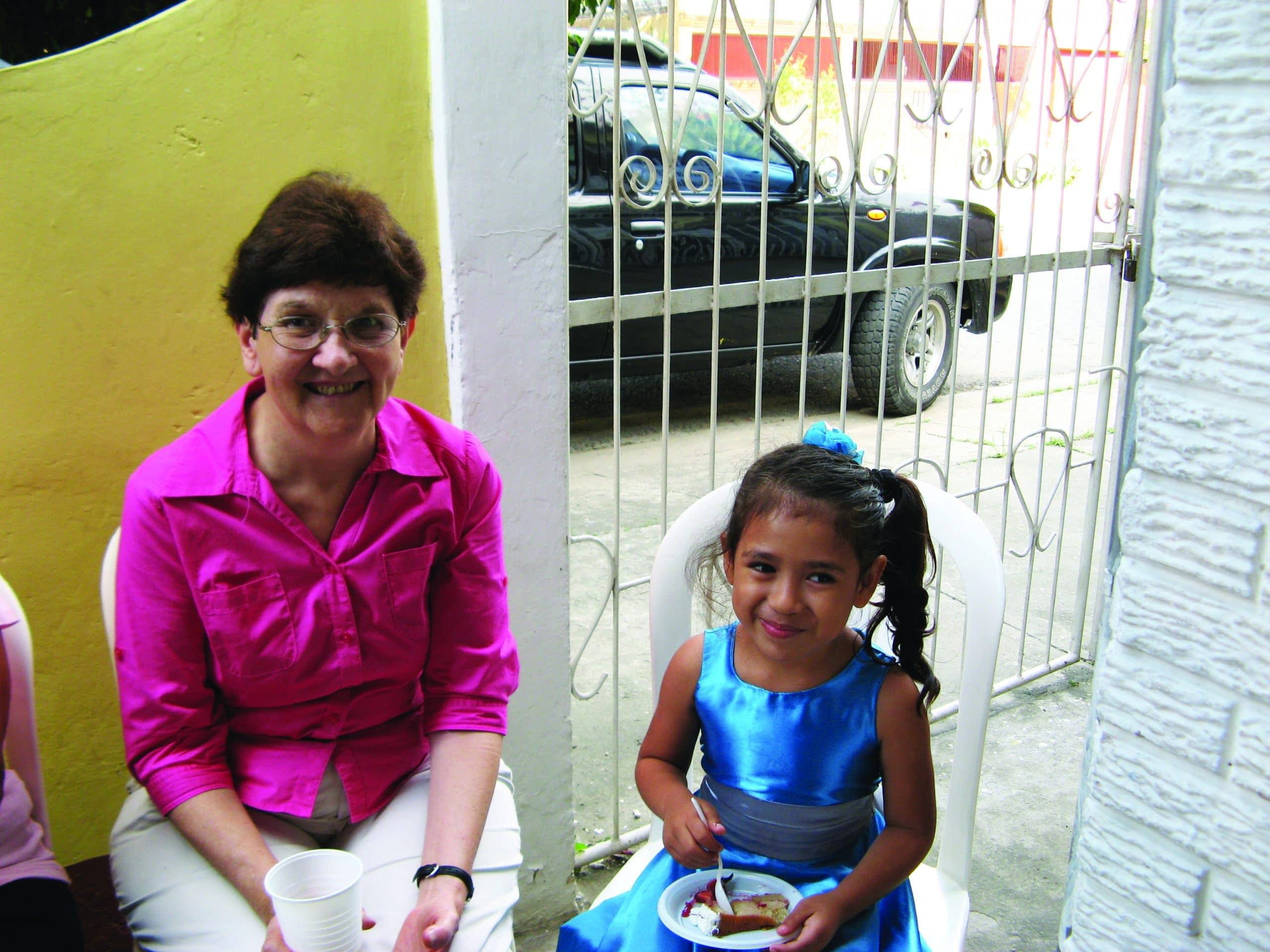 Joan Williams and child in San Pedro Sula