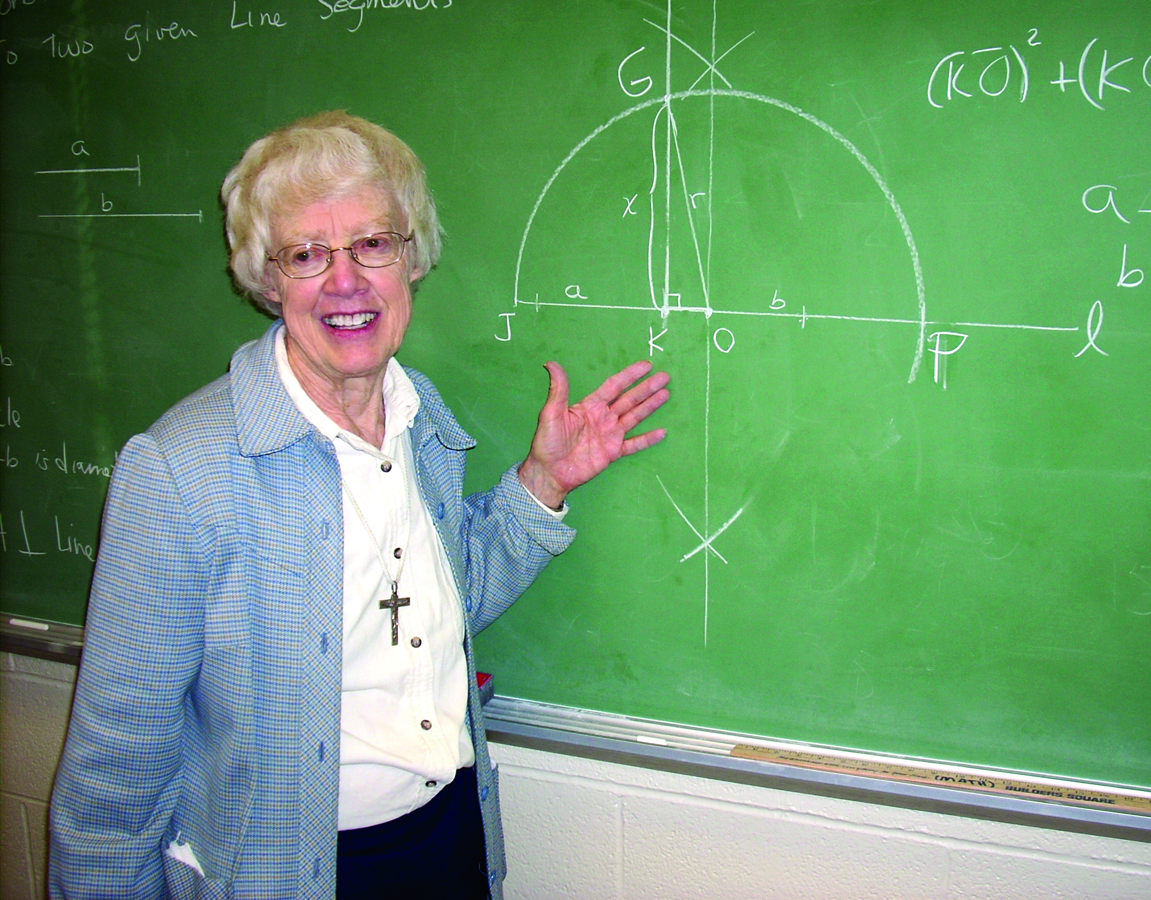 Sr Ann Mason teaching at Aquinas