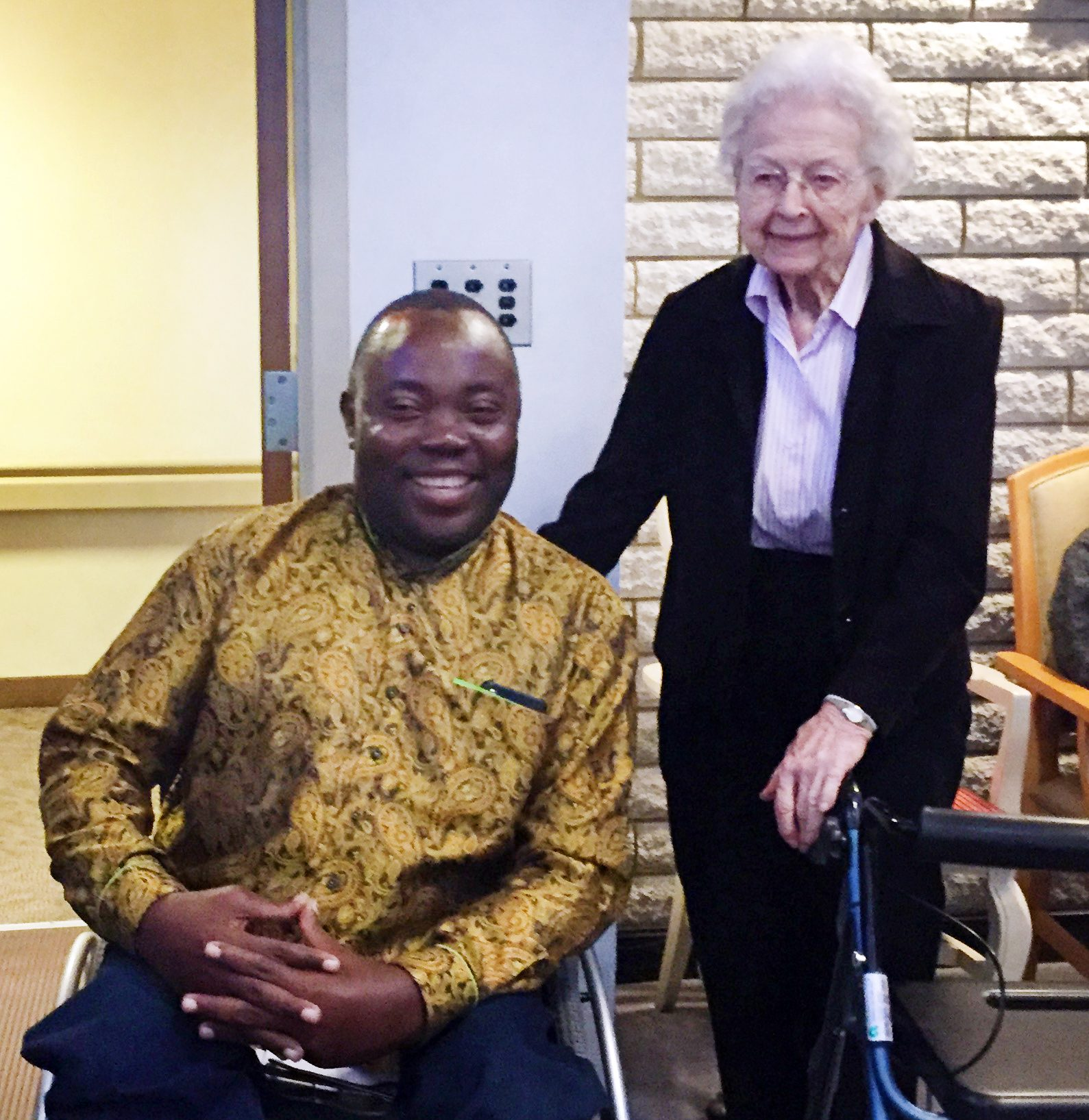 Sister Aquinas Weber and Clement Chiwaya