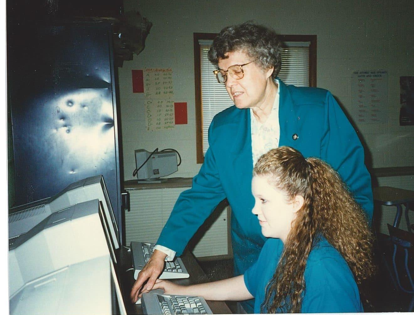Sister Thaddeus teaching Latin 1994