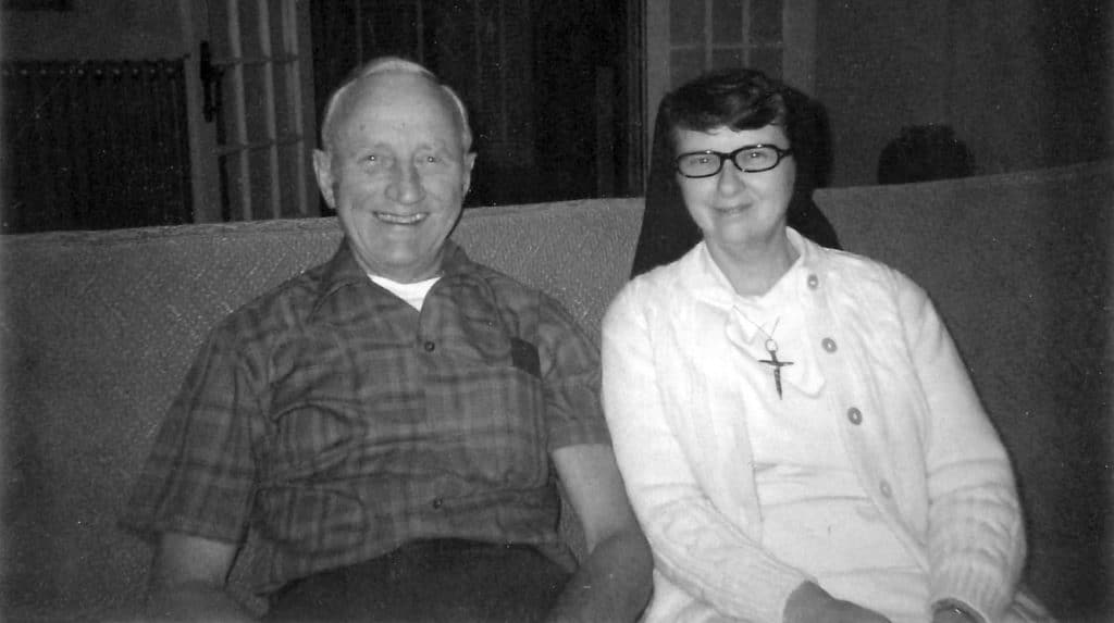 Sister Francetta with her father, Francis McCann.