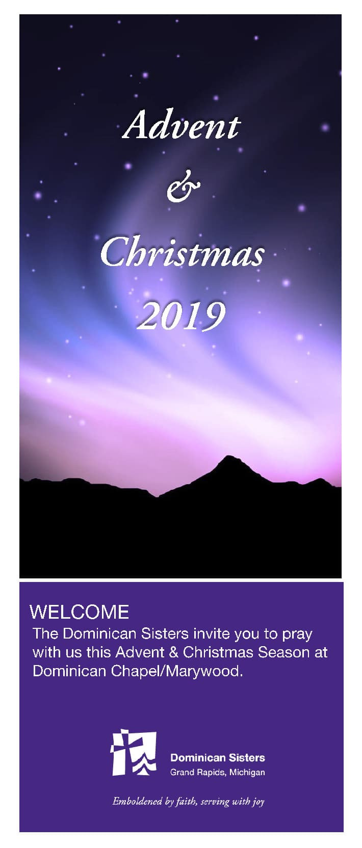 Advent Christ Brochure 2019 Cover